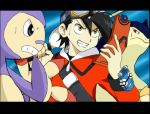 1boy ambipom gold_(pokemon) pokemon pokemon_(creature) pokemon_special typhlosion