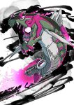 basculegion commentary_request energy fangs full_body glowing glowing_eyes grey_eyes highres light_trail looking_to_the_side m_t_m mechanization open_mouth pokemon scales