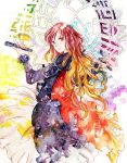 dress gradient_hair hijiri_byakuren long_hair multicolored_hair scroll solo touhou uram