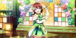 blush dress emma_verde green_eyes long_hair love_live!_school_idol_festival_all_stars red_ribbon smile