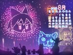 1boy 2018 6+girls august bow calendar_(medium) commentary_request cookie_(touhou) cowboy_shot fireworks hair_bow hakurei_reimu highres ibuki_suika kirisame_marisa long_hair manatsu_no_yo_no_inmu minigirl miura_cat miura_daisenpai multiple_girls nadeko_(cookie) night otemoto_(baaaaloooo) power_lines reiuji_utsuho reu_(cookie) rumia sakenomi_(cookie) short_hair silhouette touhou uzuki_(cookie) yamin_(cookie)