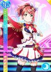 blush character_name dress love_live!_nijigasaki_high_school_idol_club pink_hair red_eyes short_hair smile uehara_ayumu