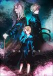 3boys blonde_hair blue_eyes cane draco_malfoy father_and_son grandfather_and_grandson harry_potter harry_potter:_the_cursed_child holding holding_cane ihiro long_coat long_hair lucius_malfoy multiple_boys scorpius_malfoy short_hair turtleneck