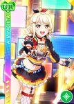 blonde_hair blush character_name love_live!_nijigasaki_high_school_idol_club love_live!_school_idol_festival miyashita_ai shirt short_hair smile yellow_eyes
