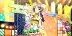blush grey_hair love_live!_school_idol_festival_all_stars nakasu_kasumi red_eyes short_hair wink yukata