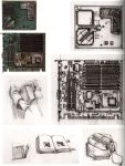 abe_yoshitoshi absurdres artbook circuit_board highres monochrome official_art scan serial_experiments_lain sketch traditional_media yoshitoshi_abe