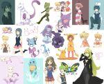 baku_(pokemon) beautifly character_request gastly ghost ghost_of_maiden's_peak haunter hikari_(pokemon) jun_(pokemon) kokemomo_sayakusa kouki_(pokemon) lass_(pokemon) mew mewtwo nintendo pachirisu pikachu poke_ball poke_kid_(pokemon) pokekid pokemon pokemon_(creature) pokemon_(game) pokemon_dppt rattata ryou_(pokemon) shinx shirona_(pokemon) squirtle