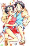 blush dual_persona genderswap luffyko monkey_d_luffy one_piece smile