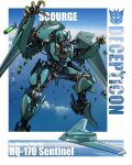 aircraft airplane bomber character_name clouds decepticon extra_eyes flying mecha military military_vehicle no_humans open_hands red_eyes redesign rq-170_sentinel science_fiction scourge_(transformers) sky solo_focus theamazingspino transformers