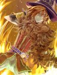 1boy animal_around_neck bangle bangs black_gloves bracelet closed_mouth commentary_request cowboy_shot detached_sleeves dutch_angle elbow_gloves fire fox gloves hair_between_eyes hair_over_one_eye jewelry looking_at_viewer lowres male_focus orange_eyes orange_hair pants professor_(ragnarok_online) q_qree ragnarok_online red_shirt shirt short_hair sleeveless sleeveless_shirt solo striped_sleeves white_pants white_sleeves yellow_sleeves