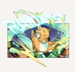 :d chain_necklace character_name commentary_request fangs gen_1_pokemon grey_eyes headphones ngr_(nnn204204) no_humans open_mouth poke_ball_print pokemon pokemon_(creature) raichu smile thunder_stone toes tongue