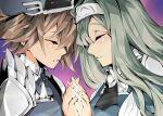 2girls duel_monster exorsister_elaine exorsister_sophia holding_hands kakutasu_1700 long_hair medium_hair yuri yuu-gi-ou