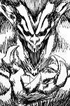 claws greyscale hatching_(texture) highres kadainist monochrome monster no_pupils open_hand open_mouth screaming shingeki_no_kyojin sketch teeth titan_(shingeki_no_kyojin) upper_body