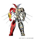 3d absurdres getter_arc getter_robo getter_robo_arc head_wings highres machinery mecha no_humans official_art science_fiction standing super_robot white_background x-ray_vision yellow_eyes