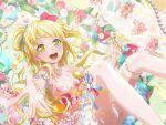 bang_dream! blonde_hair blush dress long_hair smile tsurumaki_kokoro yellow_eyes