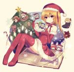 6+girls =_= absurdres alternate_costume animal_costume antlers bat_wings blue_bow blue_hair book boots bow box candy candy_cane choker christmas christmas_ornaments christmas_tree cirno closed_eyes crescent crescent_pin daiyousei embodiment_of_scarlet_devil eyebrows_visible_through_hair flandre_scarlet food gift gift_box green_hair hair_between_eyes hat highres hong_meiling izayoi_sakuya knee_boots koakuma multiple_girls off-shoulder_shirt off_shoulder patchouli_knowledge purple_hair red_choker red_eyes red_ribbon redhead reindeer_antlers reindeer_costume remilia_scarlet ribbon rumia santa_costume santa_hat shirt siblings side_ponytail silver_hair sisters snow_globe snowflakes snowman socks solid_oval_eyes stuffed_animal stuffed_toy subaru_(subachoco) teddy_bear touhou wings yellow_bow