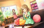 blush brown_eyes brown_hair dress idolmaster_cinderella_girls_starlight_stage short_hair smile tsukimiya_miyabi