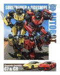 1boy 1girl autobot blue_eyes character_name chevrolet chevrolet_corvette clenched_hand genderswap genderswap_(mtf) hand_on_hip mecha one_eye_closed open_hand open_mouth redesign sideswipe sunstreaker theamazingspino transformers