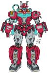 2021 autobot cable clenched_hands english_commentary heatwave lextodrawstuff looking_at_viewer mecha no_humans redesign solo standing transformers transformers:_rescue_bots visor white_background