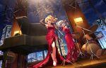 blonde_hair dress idolmaster_cinderella_girls_starlight_stage kiryuu_tsukasa_(idolmaster) long_hair smile violet_eyes
