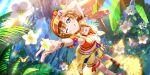 blue_eyes blush kousaka_honoka love_live!_school_idol_festival_all_stars orange_hair short_hair smile swimsuit wink