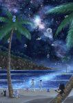 1boy 1girl aether_foundation_employee alolan_form alolan_meowth alolan_rattata bagon banned_artist beach commentary_request corsola cottonee crabrawler flabebe flabebe_(blue) flabebe_(orange) flabebe_(red) flabebe_(white) flabebe_(yellow) grubbin hat jumpsuit litten mantyke night nin_(female) outdoors palm_tree pokemon pokemon_(game) pokemon_sm popplio ribombee rowlet sand shoes shore sky slowking slowpoke spinarak standing star_(sky) tree water whimsicott white_footwear white_headwear