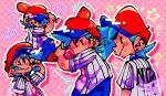 1boy alternate_costume baseball baseball_bat baseball_uniform blue_hair boyfriend_(friday_night_funkin') deadlandd friday_night_funkin' hat smile solo star