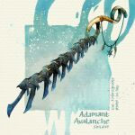artist_name blue_background commentary dated english_commentary english_text fantasy light_particles no_humans original simple_background sinlaire still_life sword weapon weapon_focus white_background