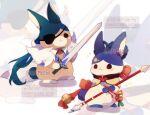 artist_name cremechii fur genshin_impact lance no_humans polearm rabbit solo sword weapon