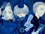 all-out_attack blue_card card elizabeth elizabeth_(persona) family gloves hat holding holding_card lime_(pixiv) margaret persona persona_3 persona_3_portable persona_4 short_hair siblings smile teodor white_hair yellow_eyes