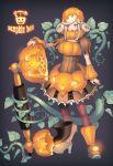 brown_eyes halloween juuden original pantyhose phone pumpkin solo