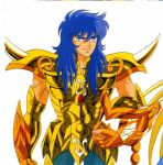 80's armor blue_eyes cloth golden knights_of_the_zodiac male manly oldschool purple_hair saint_seiya scorpio_milo smile