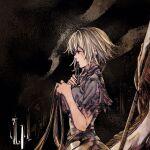 1girl black_dress blonde_hair breasts dress fate/apocrypha fate_(series) highres jeanne_d'arc_(fate) kazama_raita long_hair solo