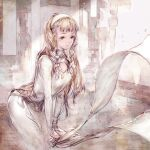 1girl breasts character_request closed_mouth highres kazama_raita long_hair maquia smile solo