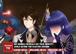 absurdres bad_link blush couple genshin_impact highres long_hair meme raiden_shogun self_upload shy special_feeling_(meme) zhongli_(genshin_impact)