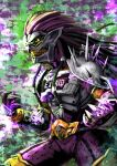 1boy another_ex-aid another_rider_(zi-o) armor claws clenched_teeth colored_skin creature driver evil_grin evil_smile fingernails grin hair_intakes kamen_rider kamen_rider_zi-o_(series) long_hair monster open_hands pink_hair pink_skin sharp_fingernails shinpei_(shimpay) shoulder_spikes smile spikes sunken_eyes teeth yellow_eyes yellow_teeth