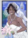 bleach bride shihouin_yoruichi smile wedding_dress