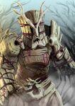 1boy another_kikai_(zi-o) another_rider_(zi-o) asymmetrical_arms bound bound_together branch creature elemental_(creature) horns kamen_rider kamen_rider_zi-o_(series) monster namesake sharp_teeth shinpei_(shimpay) teeth tree wood
