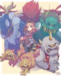 1girl blue_eyes demon heart413 highres makaimura nijisanji skirt suzuhara_lulu sword virtual_youtuber weapon