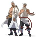 2boys a_(naruto) belt brothers clenched_fist dark_skin dark_skinned_male focused goatee headband killer_bee male male_focus naruto naruto_shippuuden open_mouth posing raikage simple_background sunglasses white_background