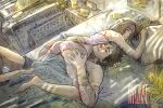 1boy 1girl ass babydoll bed black_hair blush brown_hair colored couple female holding_another kanzzzaki male morning naruto naruto_(series) naruto_shippuuden nohara_rin pillow sheets short_hair sleeping sleeping_on_person smile spiked_hair sunlight uchiha_obito