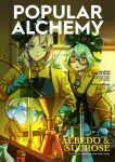 1boy 1girl absurdres albedo_(genshin_impact) alternate_costume aqua_gloves blurry braid brown_hair character_name chemistry commentary cover depth_of_field elbow_gloves english_commentary english_text gas_mask genshin_impact glasses gloves green_eyes green_hair hazmat_suit highres laboratory looking_at_another magazine_cover mask mask_on_head multicolored_hair orange_eyes parted_lips queenieo semi-rimless_eyewear single_braid slime_(genshin_impact) stasis_tank streaked_hair sucrose_(genshin_impact) test_tube two-tone_hair vision_(genshin_impact)