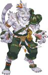 1boy abs angry animal_ears animal_feet animal_hands animal_nose armband armor artist_request belt body_fur broken broken_chain chain claws clenched_teeth colored_sclera cuffs full_body furry furry_male green_legwear green_shorts grey_fur grey_hair hair_ribbon highres male_focus multicolored_hair muscular muscular_male navel nimbus_(world_flipper) non-web_source official_art orange_eyes orange_ribbon pauldrons pawpads pectorals ribbon rope sack scar scar_on_arm scar_on_leg shackles sharp_teeth short_hair shorts shoulder_armor single_pauldron snout socks solo stomach tail teeth tied_hair tiger_boy tiger_ears tiger_tail toeless_legwear topknot transparent_background two-tone_hair whiskers white_fur world_flipper yellow_sclera zipper zipper_pull_tab