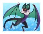 border commentary_request fangs full_body highres karamomo_(krmmap) looking_back no_humans noivern open_mouth outside_border pokemon pokemon_(creature) solo tongue white_border