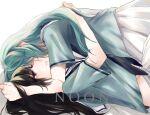 2girls bad_id bad_pixiv_id bang_dream! highres hikawa_sayo hug multiple_girls shirokane_rinko trash0kawa yuri