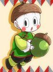 1boy acorn black_eyes blush_stickers chaozu chinese_clothes dragon_ball full_body hat holding male_focus nn_(kingdamu22) open_mouth solo white_skin