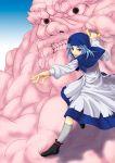 blue_hair bracelet cloud clouds hood jewelry kagelantern kumoi_ichirin ring short_hair touhou unzan
