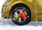bad_id car chen kawaisu motor_vehicle multiple_tails o_o pun tail touhou translated vehicle volkswagen volkswagen_beetle wheel