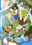 1boy 3girls assault_rifle barefoot bird black_hair braid brown_hair building car cat commentary_request cover cover_page crane_(animal) eel family father_(yurusaba) father_and_daughter fish flag flower forest french_horn full_body ground_vehicle gun horse instrument looking_at_viewer manga_cover miniskirt momo_(yurusaba) motor_vehicle multiple_girls nature official_art open_mouth otter overgrown rifle rin_(yurusaba) sekiguchi_taro shirt short_sleeves siblings sisters skirt skyscraper smile sunflower sweater_vest tree tsumugi_(yurusaba) upside-down weapon white_shirt yurusaba.