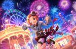 blush dress green_eyes idolmaster_cinderella_girls_starlight_stage orange_hair ryuuzaki_kaoru short_hair smile wink